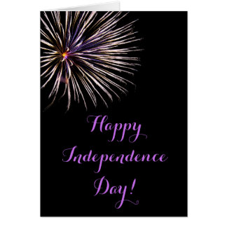 Fireworks Fourth of July Card