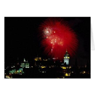 Fireworks from Calton Hall, Edinburgh Card