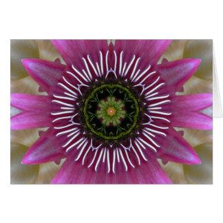 Fireworks Fuchsia Mandala Card