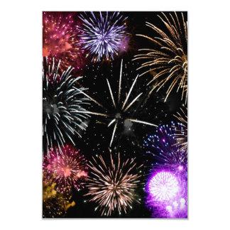 "Fireworks Grande Finale 3.5"" X 5"" Invitation Card"