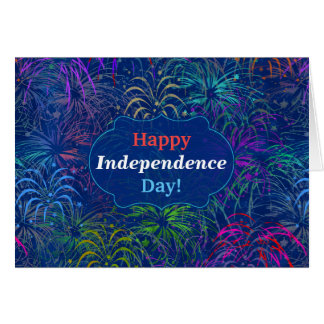 Fireworks Happy Independence Day 4th of July Card