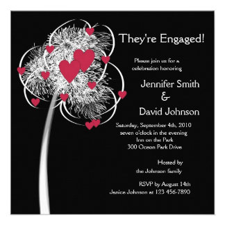 Fireworks Hearts Tree Engagement Announcement