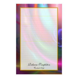 Fireworks III Fine Lined Stationery with Name