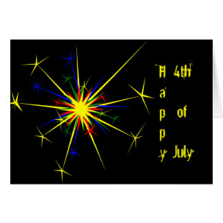 Fireworks Illustration Greeting Card