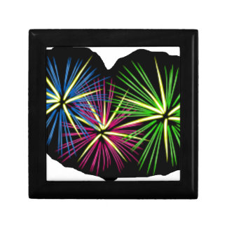 FIREWORKS IMAGE ON ITEMS SMALL SQUARE GIFT BOX