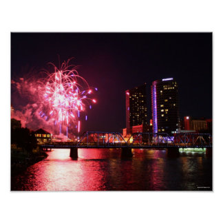 Fireworks in Grand Rapids Poster