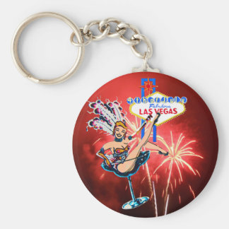 Fireworks in Las Vegas 4th of July Key Ring