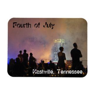 Fireworks in Nashville Rectangular Photo Magnet