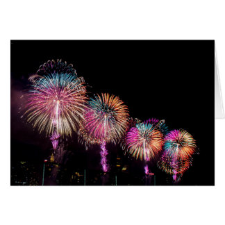 Fireworks in NYC Card