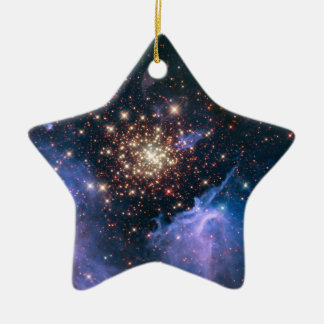 Fireworks in Space Ceramic Ornament