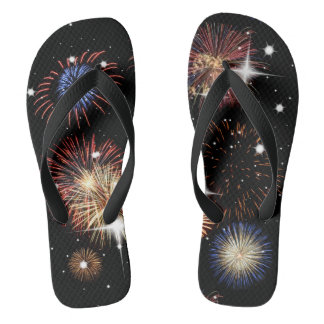 Fireworks Independence Day Flip Flops Thongs