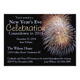 Fireworks Invitation Customize for Your Event