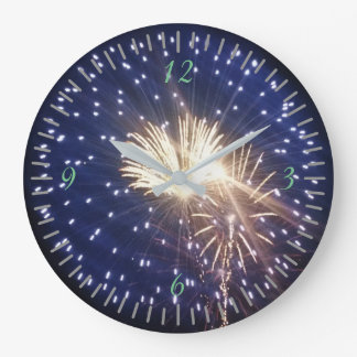 Fireworks!!! Large Clock