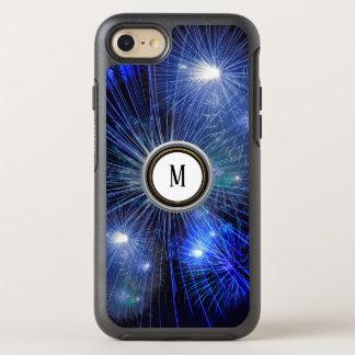fireworks light festival blue fashion OtterBox symmetry iPhone 8/7 case
