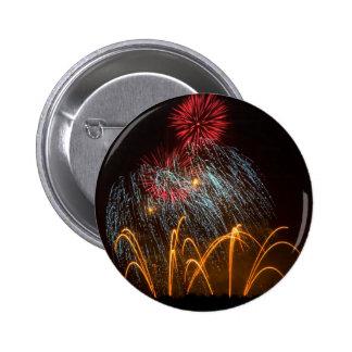 Fireworks Lighting up the Sky 6 Cm Round Badge