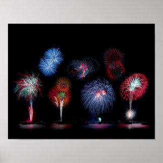 Fireworks Magic Poster