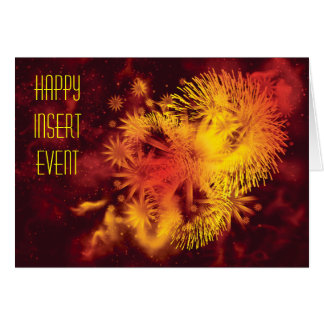 Fireworks major holidays cards