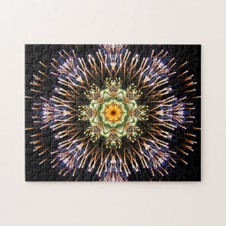 Fireworks Mandala Jigsaw Puzzle