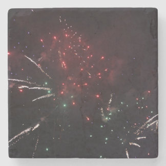 Fireworks Marble Drink Coaster