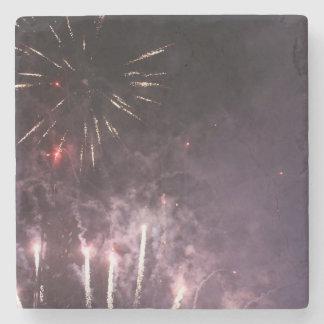 Fireworks Marble Stone Coaster