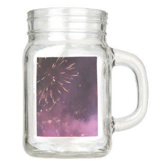 Fireworks Mason Jar
