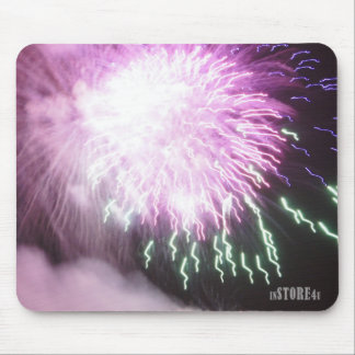 Fireworks Mousepad - Violet Fireworks