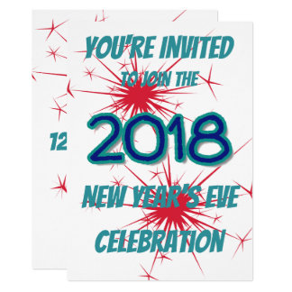 Fireworks New Year's Eve Party Invitation