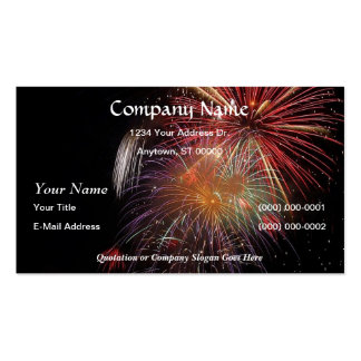 FIREWORKS Nighttime Colorful Explosions! Pack Of Standard Business Cards