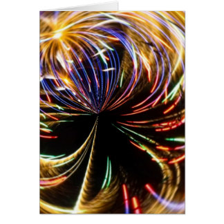 Fireworks Orbital II Greeting Card