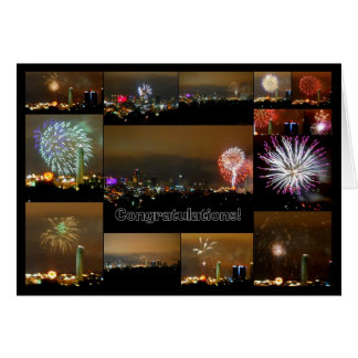 Fireworks over Downtown Kansas CIty, Missouri Greeting Card