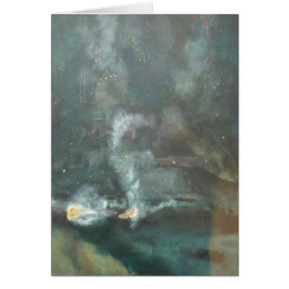 Fireworks over Gorey Castle, Jersey, Channel Isles Greeting Card