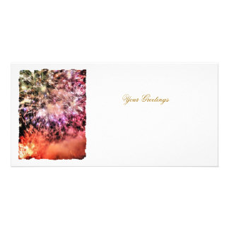FIREWORKS PHOTO GREETING CARD