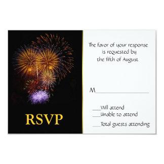 Fireworks Response Card
