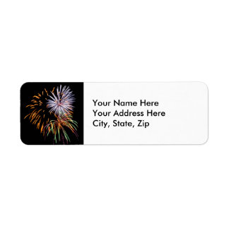 Fireworks Return Address Label
