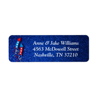 Fireworks Rocket 4th of July Address Labels