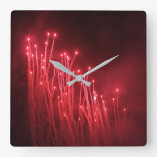 Fireworks Rocket Red Glare Clock