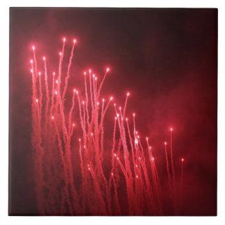 Fireworks Rockets Red Glare Ceramic tile