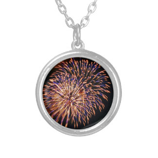 Fireworks Silver Plated Necklace