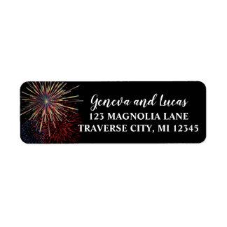 Fireworks Sky Fourth of July Address Return Address Label