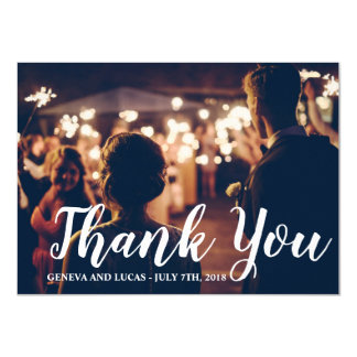 Fireworks Sky Fourth of July Wedding Thank You Card