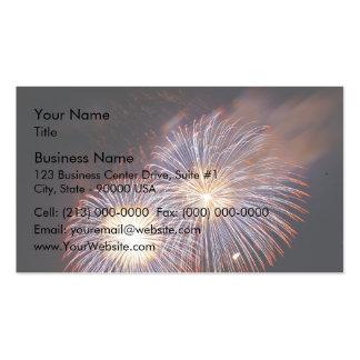 Fireworks - sky show business card template