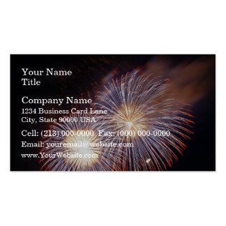Fireworks - sky show business card templates