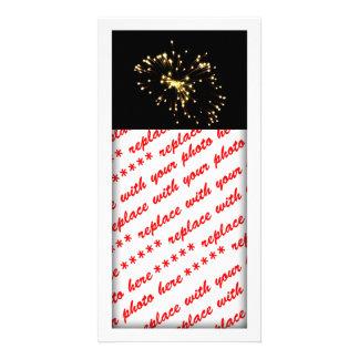 Fireworks Spray Personalized Photo Card