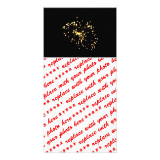 Fireworks Spray Custom Photo Card