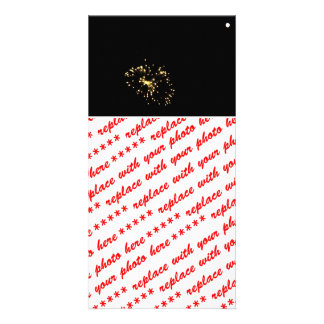 Fireworks Spray With Moon Custom Photo Card