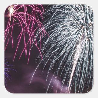 Fireworks Square Sticker