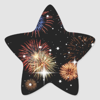 Fireworks Star Stickers