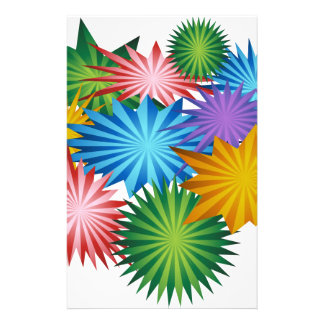 Fireworks Stars Colorful Graphic Stationery