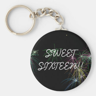 Fireworks, SWEETSIXTEEN!! Key Ring