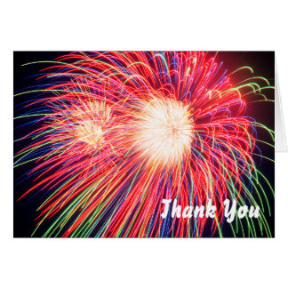 Fireworks Thank You Card